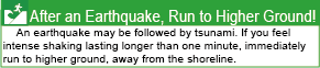 After an Earthquake, Run to Higher Ground!