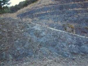 佐喜浜の枕状溶岩:写真1