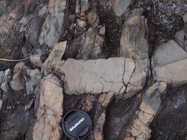 砂岩脈:写真1