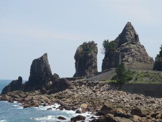 鹿岡鼻の夫婦岩:写真2